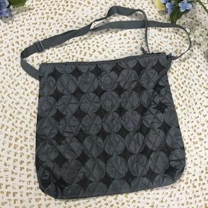Gray Black Tote Bag Circles Geometric